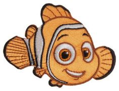 Finding Nemo Pearl sew on motif for Knitting//Sewing//Crafts and card making