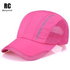 Cappellino baseball Men Snapback Cap Quick Dry Summer Sun Hat Visor Casual  Mesh Baseball caps For d01fc24f82ae