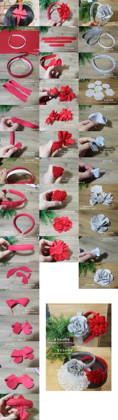 On a variety of non-woven magical effect of the DIY hair bands (the flowers can be made movable, not necessarily fixed si, not made hair bands can also be made Tousheng oh)