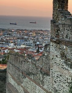 Ancient walls of Thessaloniki, the second-largest city in Greece Macedonia Greece, Athens Greece, Oh The Places You'll Go, Places To Visit, Greece Holiday, Lokal, Thessaloniki, Eurotrip, Greek Islands