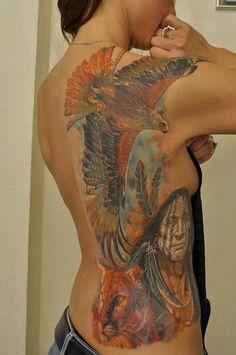 by Dmitriy Samohin http://www.galleryoftattoosnow.com/DmitriySamohinMEMBERS/images/gallery/medium/hawk-rib-tattoo.jpg