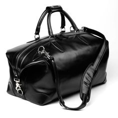 Allen Edmonds Park Avenue Collection - Black Leather Duffel Bag