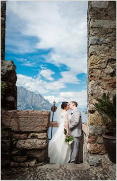 Lake Garda wedding at Malcesine Castle. © Sarah Ferrara http://sarahferraraweddings.com