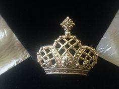 PAQUETTE Crown Brooch by GENEVEVES on Etsy