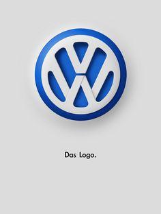 VW : Das Logo, por Patrick Dufour - Update or Die! Vw Logo, Volkswagen Logo, Volkswagen Group, Car Brands Logos, Car Logos, Gfx Design, Logo Design, Graphic Design Branding, Logo Branding