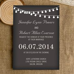 561 best backyard wedding invitations images on pinterest backyard affordable string lights chalkboard wedding invitations ewi356 stopboris