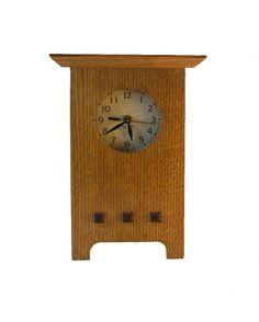 Mission Oak Mantle Clock