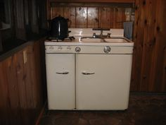 Vintage Stove- Sink- Refrigerator Combo.