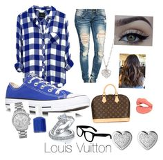 """"""""""" by jazzy0725 ❤ liked on Polyvore featuring beauty, Rails, Wet Seal, Converse, xO Design, Essie, Michael Kors, Finn, Louis Vuitton and Betsey Johnson"""