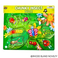 9-Piece Insect Theme Chunky Puzzle at theBIGzoo.com, a toy store featuring 3,000+ stuffed animals.