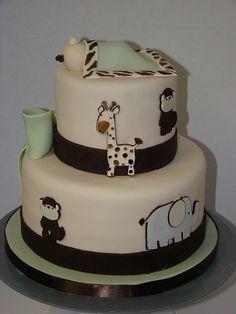 Safari Baby Shower Cake