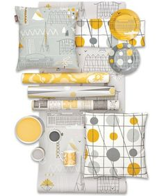 mini moderns eco paint - this is a fab way to show off a full collection! #stylelab