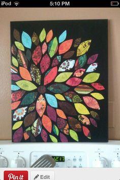 Flower canvas art