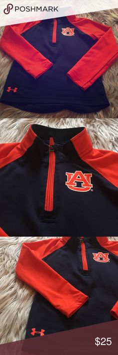Under Armour boys size 3T auburn pullover Under Armour long sleeve boys size 3T orange and navy auburn tigers long sleeve pullover 1/4 zip too. Like new condition mad no spots or atoms and smoke free home. Barely worn. Under Armour Shirts & Tops Tees - Long Sleeve