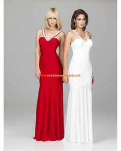 Evenings by Allure robe glamour simple 2012 rouge blanche robe de soirée mousseline