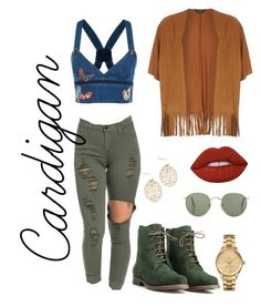 Cardigan by jaisylaramsamy on Polyvore featuring Dorothy Perkins, Valentino, JJ Footwear, Lacoste, Lime Crime, cutecardigan and springlayers