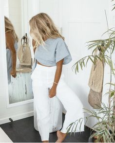 """Byron Bay, Australia • @matildadjerf in her #TomasPants • New arrivals now available @nordstrom…"""""""