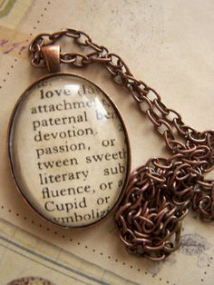 dictionary pendant