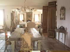 combo living and dining room in beige and brown