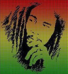 Bob Marley Crochet Afghan Patterns | crochet graph patterns music stars bob marley face crochet pattern ...