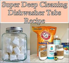 """Super Deep Cleaning Dishwasher Tabs Recipe Homesteading  - The Homestead Survival .Com     """"Please Share This Pin"""""""