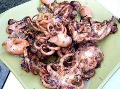 Octopus Grilled Very Tender Recipe - Genius Kitchen Octopus Recipes, Fish Recipes, Seafood Recipes, Squid Recipes, Korean Recipes, Greek Recipes, Fish Dishes, Seafood Dishes, Fish And Seafood