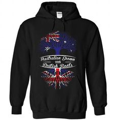 Australian Grown with British Roots - #shirt ideas #funny tee. CHECK PRICE => https://www.sunfrog.com/States/Australian-Grown-with-British-Roots-2330-Black-Hoodie.html?68278
