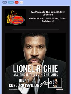 Lionel Richie at Concord Pavilion, June 1, 2014