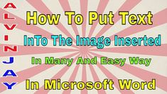 How To Put Text In Many Ways To The Inserted Image In Your Microsoft Wor... Clear Browsing Data, Insert Image, Microsoft Word, Writing, Learning, Words, Being A Writer, Teaching, Letter