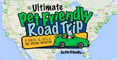 GoPetFriendly.com is embarking on the Ultimate Pet Friendly Road Trip - a 15,000-mile, 10-month tour of the US! They'll vist the #1 pet friendly attraction in 48 states, raise awareness for pet travel and safety, and help homeless dogs and cats become someone's perfect travel buddy!
