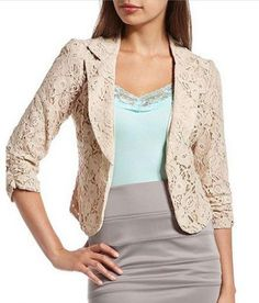 Lace blazer @ Charlotte Russe  i've never seen this before very cute tho