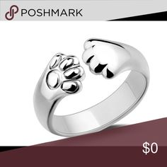925 Sterling silver cat ring Cat paws ring Jewelry Rings