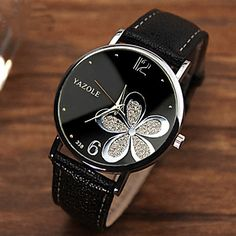 Elegant women wrist watch in black, white, red color. Get them at $7.19