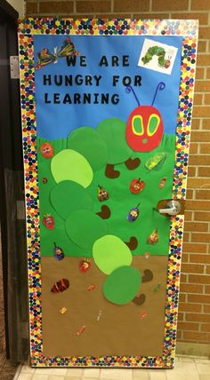 The Very Hungry Caterpillar classroom door idea. The Very Hungry Caterpillar classroom door idea. Toddler Classroom, Classroom Door, Classroom Displays, Preschool Classroom, Classroom Themes, Preschool Door, Kindergarten, Hungry Caterpillar Classroom, Very Hungry Caterpillar