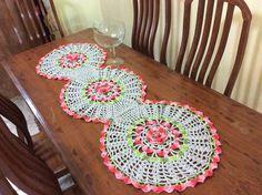 Trilho de mesa flor. 1,45m.