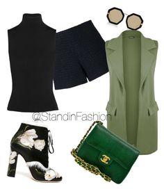 """""""Untitled #108"""" by standinfashion on Polyvore featuring Dolce&Gabbana, Karen Walker, Giamba, Acne Studios, WearAll and Chanel"""