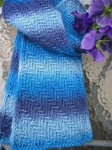 Free Knitting Pattern Prismatic Scarf