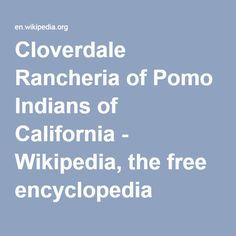 Cloverdale Rancheria of Pomo Indians of California - Wikipedia, the free encyclopedia