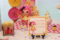 Lalaloopsy Party | CatchMyParty.com #lalaloopsy #party