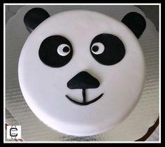 FONDANT PANDA BEAR FACE CAKE