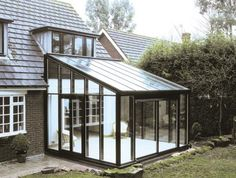 Few too many panels, but would be a great design with slightly wider glass panels. Bespoke Glass Lean To Conservatories