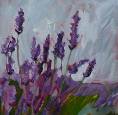 lavender oil painting. This makes me want to revisit my paints.