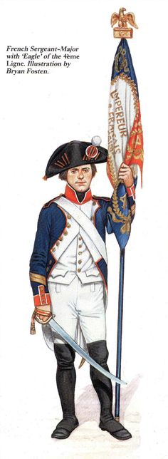 Porta stendardo del 4 rgt. di fanteria di linea francese