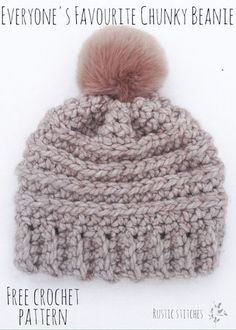 f3d2182dd67 Everyone s Favourite Crochet Beanie - Free Pattern from Rustic Stitches  Crochet Stitches