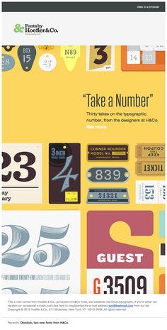 Inspiring newsletters - Fonts by Hoefler&Co.