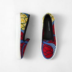 fr aime ces African wax print shoe vol. African Wear, African Dress, African Style, Kitenge, African Accessories, Fashion Accessories, Mode Wax, Afro, African Print Fashion