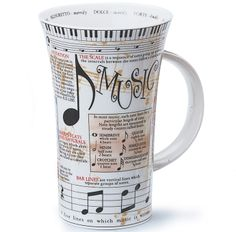 Music theory mug, yes please! someone get me this  Pinned from PinTo for iPad 