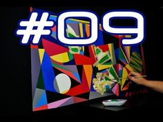 The making of Abstract Geometric Art Painting Number 12 by Jef Roos 2014 in Stop-Motion. Abstract Geometric Art, Number 9, Stop Motion, Paintings, Youtube, Art, Paint, Painting Art, Painting