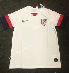 1b0346db4f5 2019-2020 USA Home White Thailand Soccer Jersey AAA-407