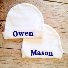 Baby shower Beanie hat Baby girl Newborn gift Baby shower gift Baby boy Newborn Baby beanie 3-6,6-12- Poppy and Baby blue. Baby hat